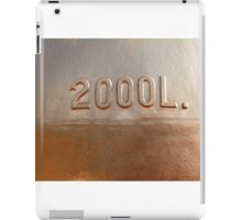 Old copper wine tank fragment iPad Case/Skin