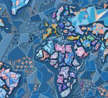 world map geometry 2 Sticker