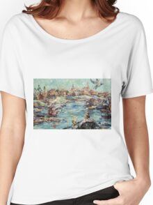 "Artwork ""Feeding a Seagull"" Women's Relaxed Fit T-Shirt"