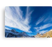 Sky, clouds and mountains. Canvas Print