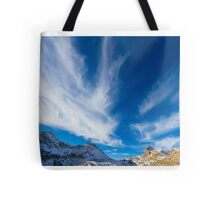 Sky, clouds and mountains. Tote Bag