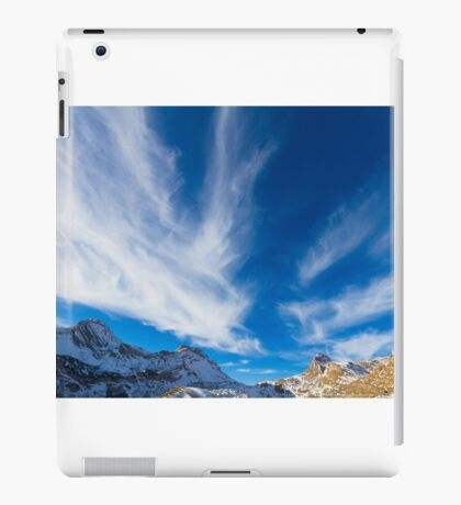 Sky, clouds and mountains. iPad Case/Skin