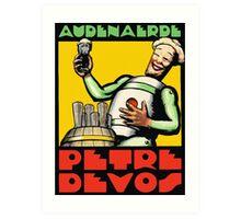 1930s Audenaerde Petre-Devos Belgian Beer advert retro style Art Print
