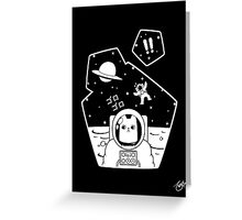 Christobelle Purrlumbus: Oblivious Explorer of Space Greeting Card