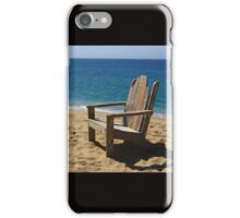 Empty weathered beach chair. iPhone Case/Skin