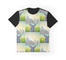 Mountain Stag at Sunset Graphic T-Shirt