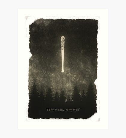 "The Walking Dead - ""Eeny Meeny Mine Moe"" Art Print"