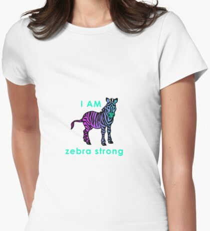 I AM zebra strong Womens Fitted T-Shirt