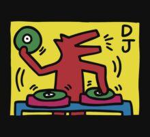 keith haring, keith, haring, graffiti, symbol, paris, trending, mann, dj, music. One Piece - Short Sleeve
