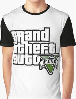 Gta V Logo Graphic T-Shirt