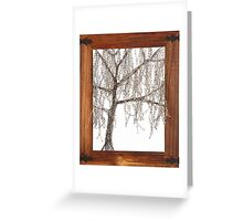 Winter willow tree Greeting Card