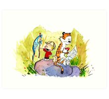Adventure with Calvin & Hobbes Art Print