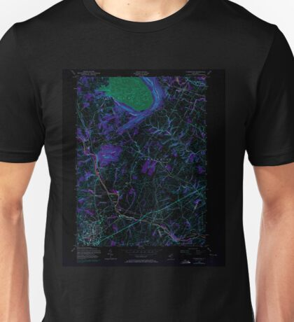 USGS TOPO Map New Jersey NJ Flemington 254386 1954 24000 Inverted Unisex T-Shirt