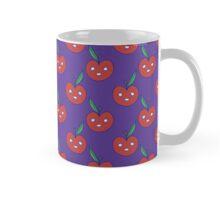 Apple Face Purple Pattern Mug