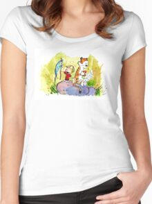 Adventure with Calvin & Hobbes Women's Fitted Scoop T-Shirt