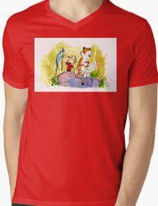 Adventure with Calvin & Hobbes Mens V-Neck T-Shirt