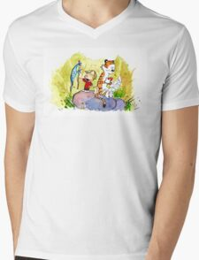 Adventure with Calvin & Hobbes Mens V-Neck T-Shirt