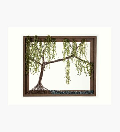 Spring Willow Tree Art Print