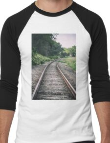 Country Railroad Track Men's Baseball ¾ T-Shirt