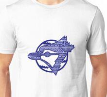 Aztec Blue Jay Unisex T-Shirt