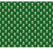 Bowtie Octopus Green Pattern Photographic Print