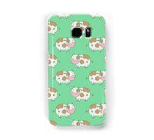Brown Cow Green Pattern Samsung Galaxy Case/Skin