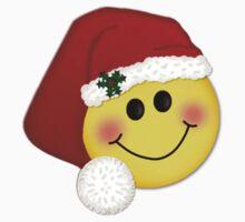 Santa Smiley Merry Christmas  Kids Tee