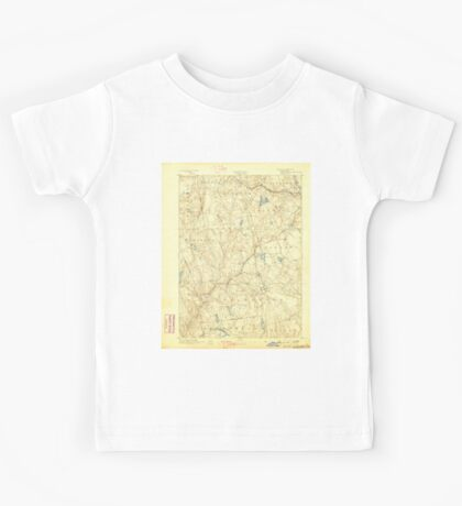USGS TOPO Map Connecticut CT Gilead 331026 1892 62500 Kids Tee