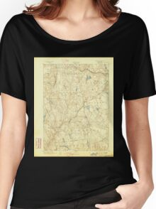 USGS TOPO Map Connecticut CT Gilead 331026 1892 62500 Women's Relaxed Fit T-Shirt