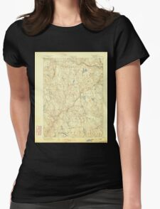 USGS TOPO Map Connecticut CT Gilead 331026 1892 62500 Womens Fitted T-Shirt