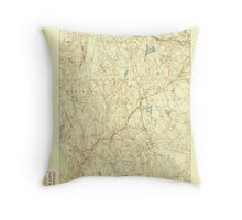 USGS TOPO Map Connecticut CT Gilead 331026 1892 62500 Throw Pillow