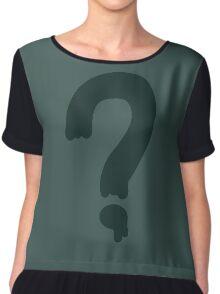 Soos Question Mark Shirt Chiffon Top
