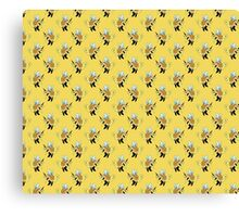 Bumble Bee Turtle Pattern Canvas Print
