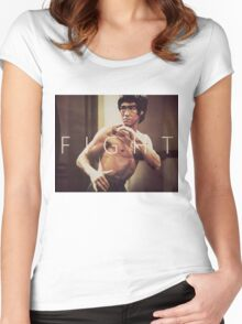 Bruce Lee Fight Women's Fitted Scoop T-Shirt