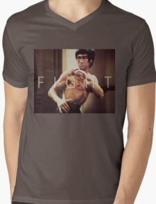 Bruce Lee Fight Mens V-Neck T-Shirt