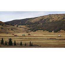 On the Border - Colorado - New Mexico - Cumbres Colorado, Railhead Photographic Print