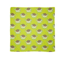 Cat Turtle Lime Green Pattern Scarf