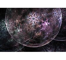 Apophysis Fractal Bubble and Spirals Photographic Print