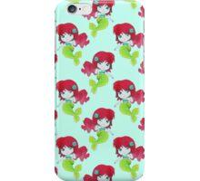 Little Watercolor Mermaid Pattern iPhone Case/Skin