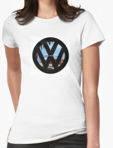 Volkswagen on the Beach Womens Fitted T-Shirt