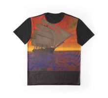 Sailing into the Sunset Graphic T-Shirt