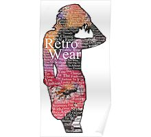 Retro wear in colour. Poster