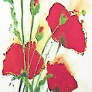 Red Poppies by Ethna Gillespie