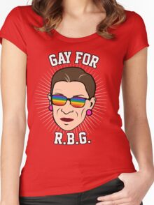 Gay for RBG Women's Fitted Scoop T-Shirt
