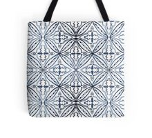Watercolor Morrocan Tile Blue Tote Bag