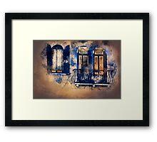 Magic windows, magic nights Framed Print