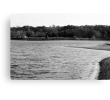 Lakeview Sequel - Black and White Canvas Print