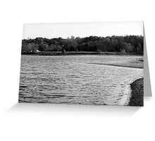 Lakeview Sequel - Black and White Greeting Card