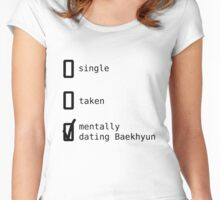 Mentally Dating Baekhyun - EXO Women's Fitted Scoop T-Shirt