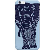 Elephant-Indigo iPhone Case/Skin